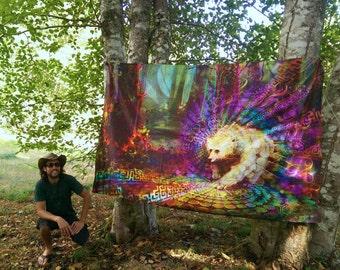 Spirit Bear - Tapestry. Totem Animal Inspired Visionary Art