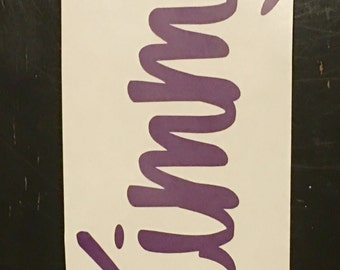 Vertical Name Decal