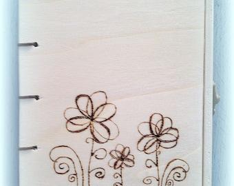 Wooden lockable flowers book