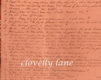 antique vintage journal pages from the 1860s featuring script handwriting calligraphy on two backgrounds