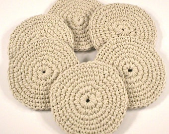 Coaster Set Made from Cotton Twine (Set of 6) (#1018)