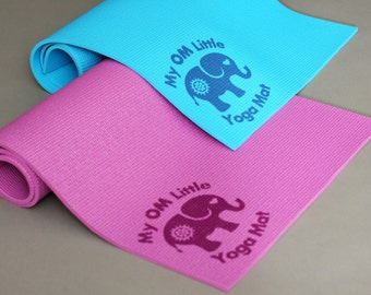 My OM Little Yoga Mat--PERFECT SIZE for Babies, Toddlers and Preschoolers