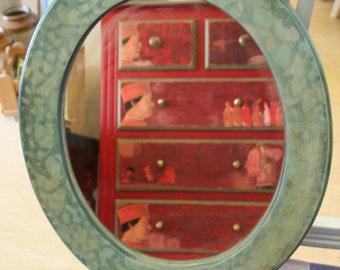 Stencilled Mirror