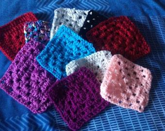 20 solid granny squares