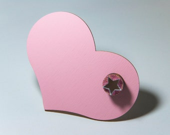 Pop Bang-Pink Heart, brooch