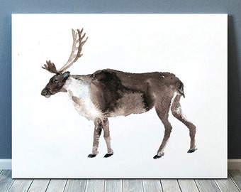 Watercolor deer print Nursery decor Animal art ACW9