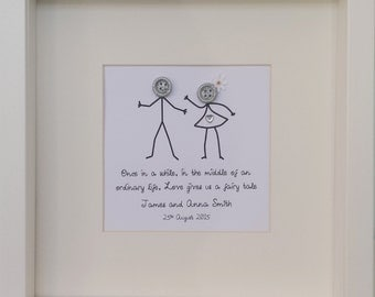 Personalised 'Love Gives us a Fairy tale' print