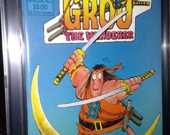 GROO SPECIAL Eclipse Oct 1984 certified nm/mnt 9.6 CGC- Sergio Aragones story, cover and art