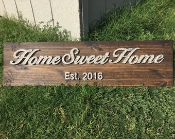 MADE TO ORDER Home Sweet Home String Art Board