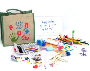 Craft Bag for Children // Craft Kit full of Art Supplies & Craft Materials for Kids // Perfect for keeping Children entertained