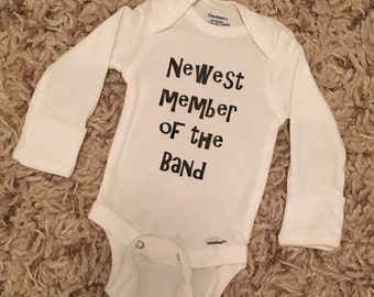 Newest member of the band onesie, band onesie, cute onesie, boy clothing, girl clothing