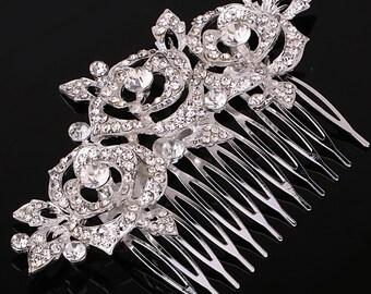 Wedding hair comb | Bridal hair jewelry | Wedding headpiece | Bridal rose hair comb | Bridal headpiece | Wedding bridal hairpiece | HC31