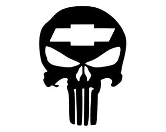 PUNISHER Car Truck Window Vinyl Decal Sticker for CHEVY