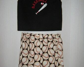 Girls'/Boys' Baseball top and shorts