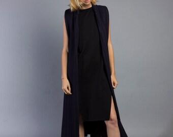 Sleeveless Wool Coat