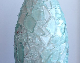 Glass shards vase