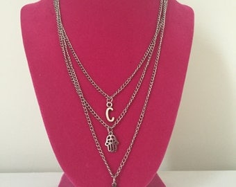 3 Layer Charm Necklace