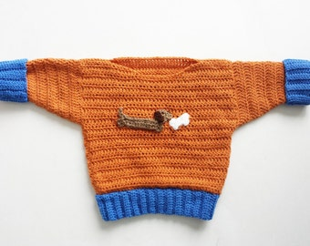 Boys' Dachshund Sweater