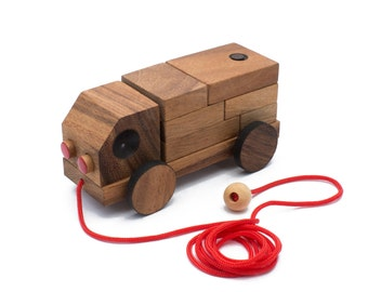 Wooden Toy : The Truck Puzzle - The Organic Natural Puzzle Game Play for Baby and Kids