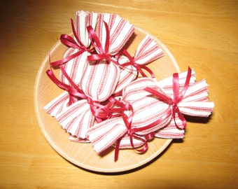 Primitive Peppermint Candy Ornies Bowl Fillers