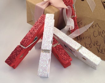 Handmade Christmas Pegs with Gift Tags