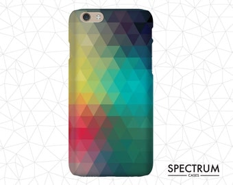Triangle geometric pattern iPhone 5 Case, hipster iPhone 5 case, cool iPhone 5 case, iPhone 5 case vintage, gift for him, multi colour