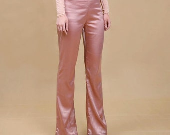 Nudist Store 70s silky satin trousers
