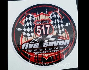 "Five1seven Designs 4"" Decal"
