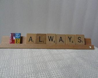 Scrabble tile art, love art, always, love always