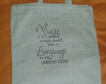 Tote bag - Quote about music