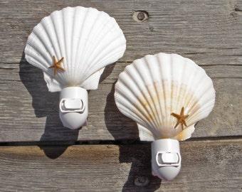 Seashell Nightlight with Starfish