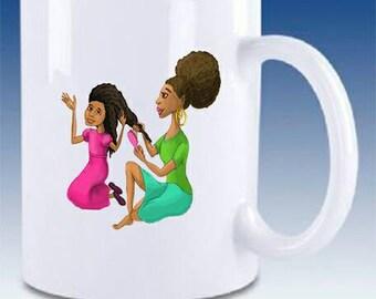 Curls and Coils Customized Coffee Mug