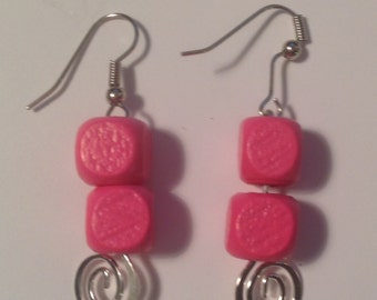 Pink Wood Beads