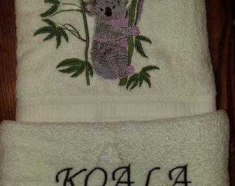 Koala Towel Set