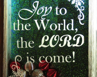 Joy to the World Shadow Box| The Lord Is Come| Christmas Decoration| Holiday Decor| Handmade Shadow Box| Wall decor| Present| Gift