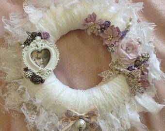 Beautiful shabby chic wreath