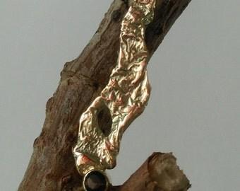 Pendant with smoky quartz