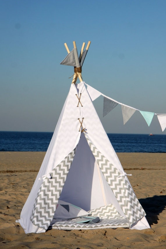 tipi teepee tepee wigwam children 39 s cotton by. Black Bedroom Furniture Sets. Home Design Ideas