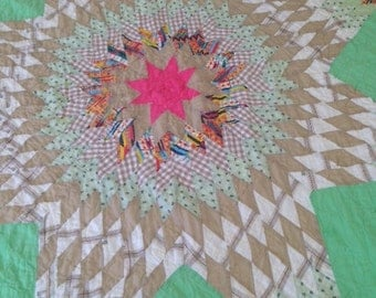 Beautiful Tennessee Handstitched Quilt 40's or 50's