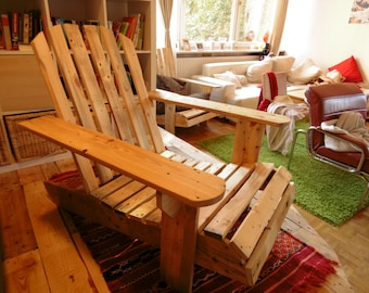 Beautiful improvised wooden chair
