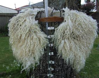 New Zealand Gotland/Merino Fur Felt Collar, Natural White