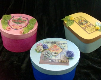 Set of Handmade Boxes (3)