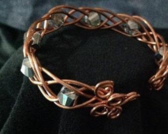 Beads & Metal Cuff Bracelet