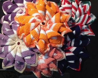 Crocheted Hot Pads-2 sizes