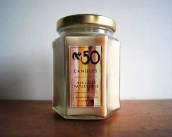 Village Patisserie Scented Candle   Handpoured 100% Soy Wax   8oz