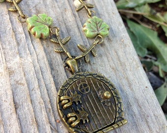 Hobbit inspired locket necklace