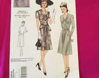 Uncut Vintage Vogue dress pattern size 12,14,16