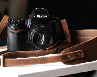 Real leather and canvas camera strap-leather shoulder bag/canvas to camera-sale last
