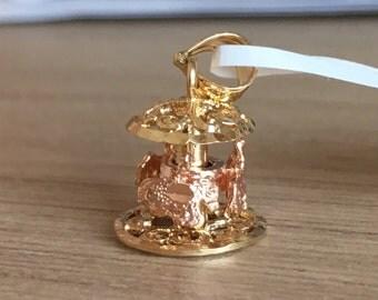 14k Rose gold carousel charm