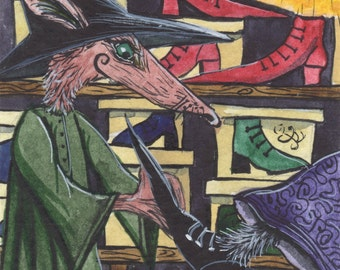 A4 Archival Print - Snorskifah - A 'Peffa-Oidy' Shoe Witch -  Matlock the Hare.